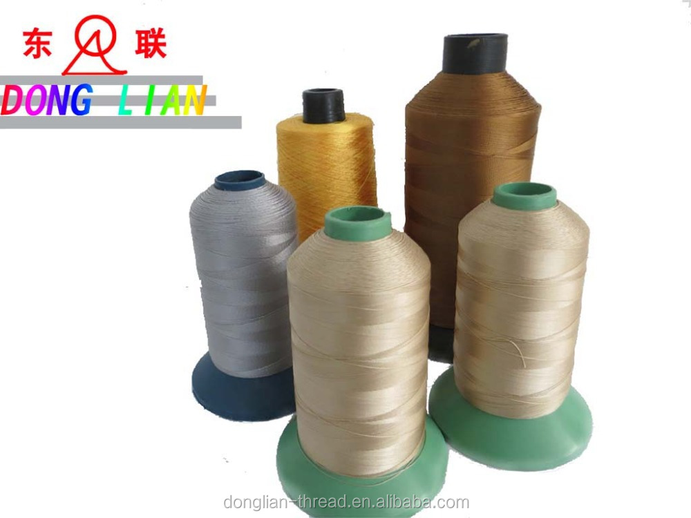 Bonded smooth polyester nylon tenacity thread,Abrasion-Resistant leather sports shoes string,210/280/420D canvas product line