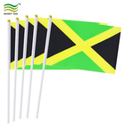 Country Polyester Mini Jamaica Custom Hand Held Flags