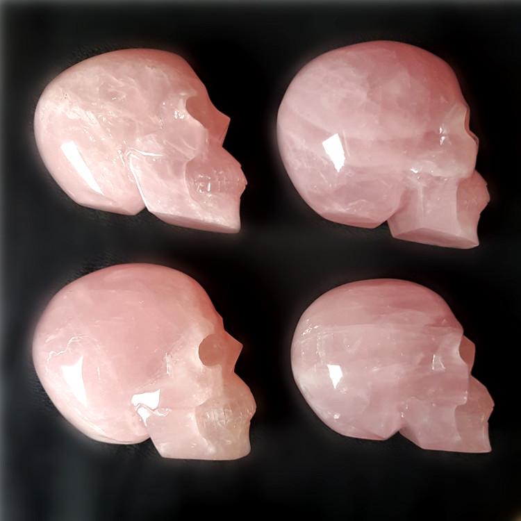 Natural Good Pink Color Rose Quartz Skulls Crystal Skulls For Cheap Wholesale Buy Rose Quartz Skulls Crystal Skulls Pink Color Skulls Product On