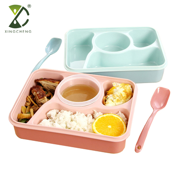 bab124108b8f Bpa Free Multifunctional Plastic 4 Compartment Bento Lunch Box Meal Prep  Container For Adults Kids - Buy 4 Compartment Lunch Box,Bento Lunch  Box,Meal ...