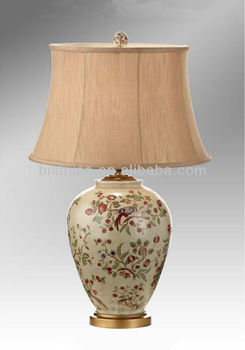 Hand Painted Floral Shaped Porcelain Lamp With Shade Decoration Art Copper Base Table Lamp Buy Antique Porcelain Bronze Table Lamps Hand Painted