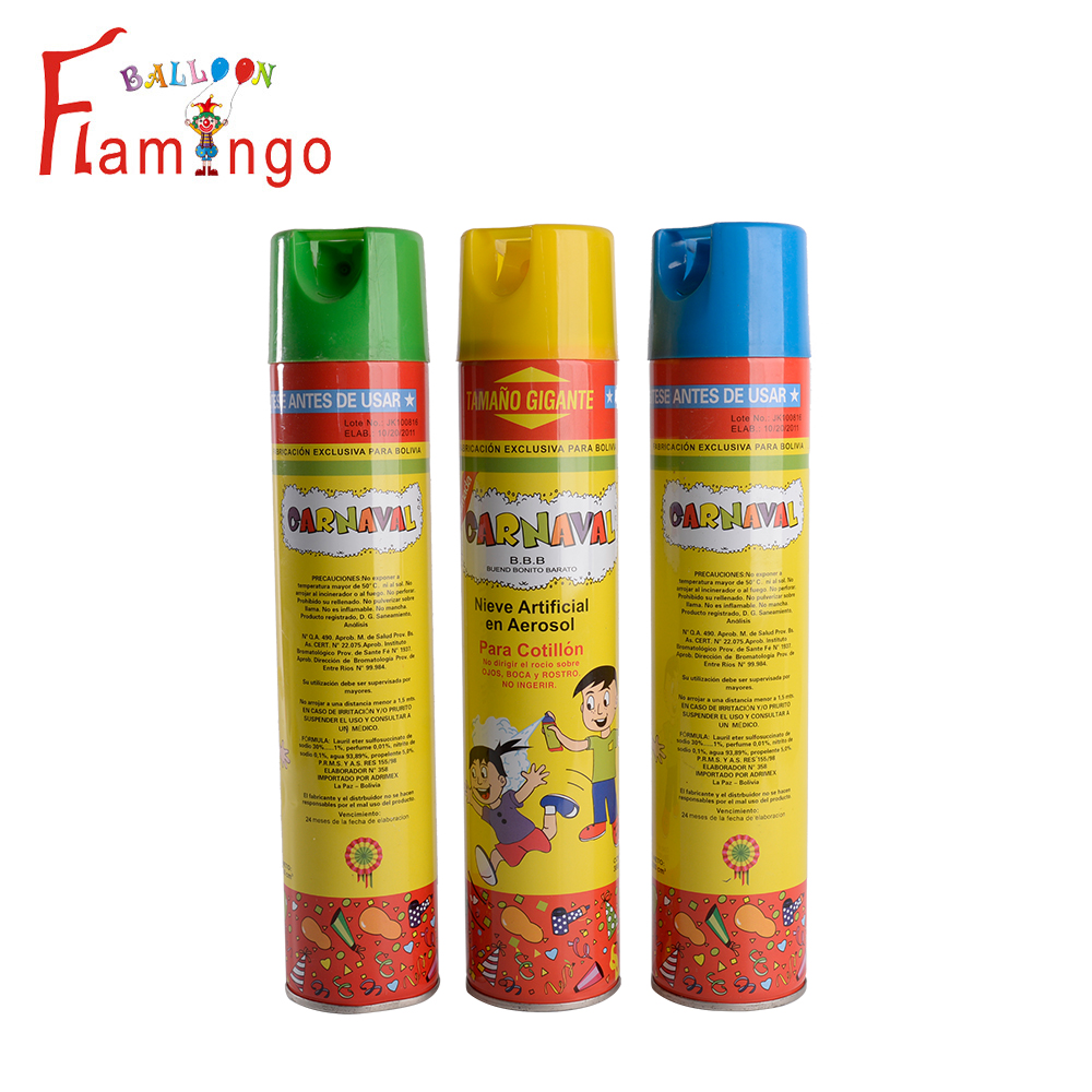 Venda quente de casamento artificial 250 ml spray de neve branca