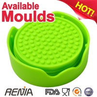 RENJIA coaster pads silicone coaster gift set silicone cup coaster