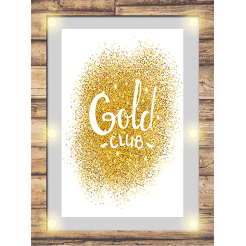Wall Home Decor Gold Foil Art Print On Canvas For Home And Coffee ...