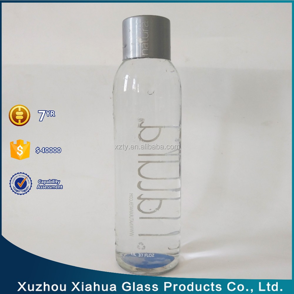 1 Liter Natura Water Design Mineral Water Glass Bottle