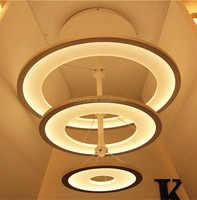 Modern new design large ring pendant led lamps