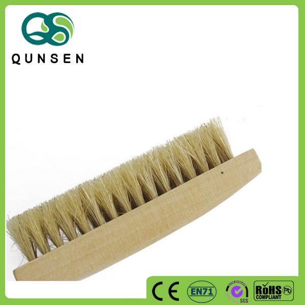 factory direct sale high quality wooden bristles beard oil brush
