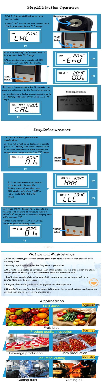 0-50% Kopi Gula Digital Refractometer dengan ATC