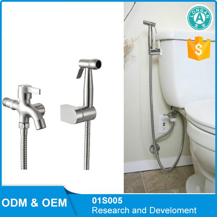 Toilet Flexible Bidet Spray Faucet And Hose