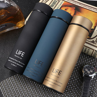 Hot sale 500ml eco friendly thermos vacuum flask, life 304 stainless thermos coffee water bottle
