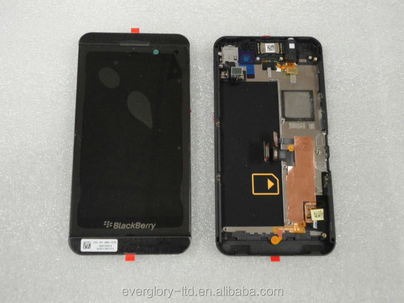 China manufacturer new replacement LCD display screen with touch glass digitizer screen for Blackberry Z10 black