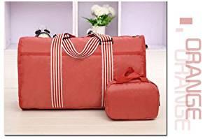 Orange Travel Hand Luggage Shoulder Bag Sport Gym Bag Weekend Overnight Bag Holdall Bag