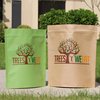 hot seller eco-friendly machine made luxury tea package kraft paper bag wholesales manufacturer (yc0757)