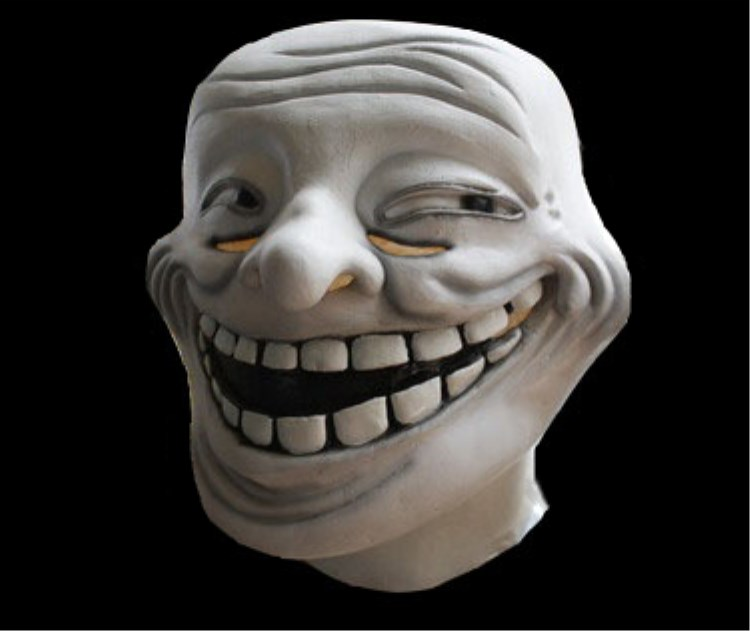 Smiling Mask Over Crying Face Meme