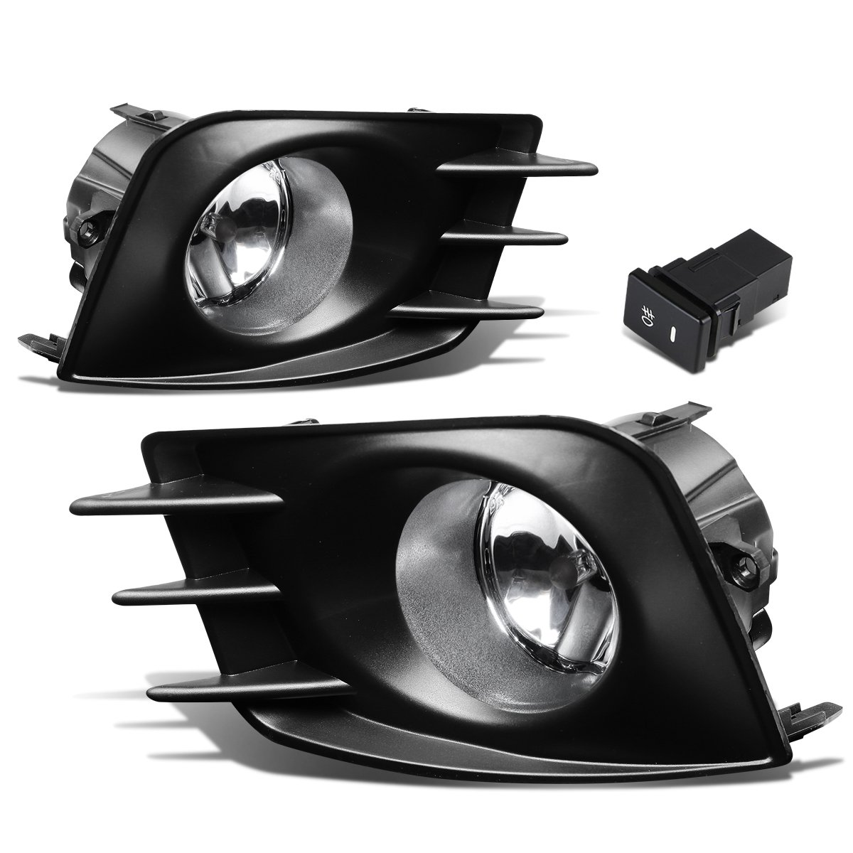 get quotations · scion tc pair of bumper driving fog lights + bezel + wiring  kit + switch (