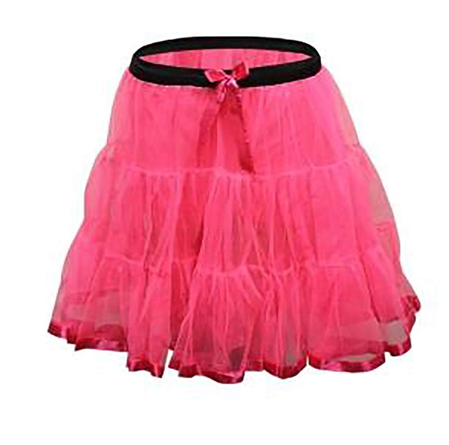 Rimi Hanger Girls 2 Layer Petticoat Tutu Skirt Children Party Dance Wear Fancy Mini Skirt 8-12 Years