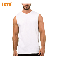 Wholesale Custom New Design Long Line Sleeveless Orignal Cotton Printing Breathable Men T Shirt