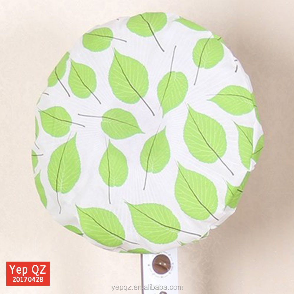 Eco-friendly washable reusable white canvas full printing fan dust cover