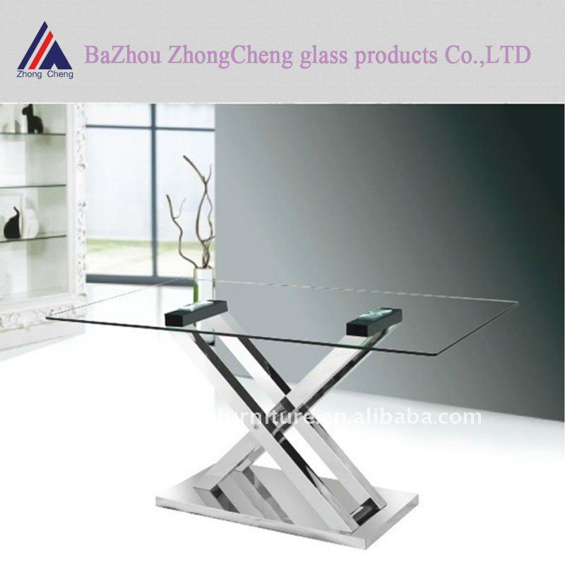 Charmant Folding Leg Glass Dining Table   Buy Glass Dining Table,Modern Dining Table, Glass Cover Dining Table Product On Alibaba.com