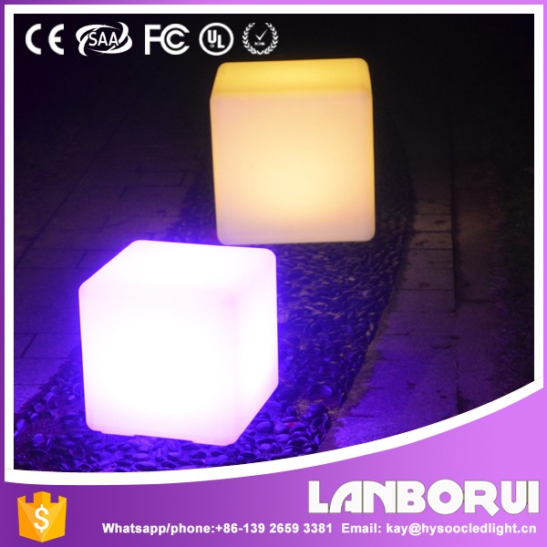 LANBORUI 2016 New Products LED Cube Chairs Light Seat ,bar chairs LED cube