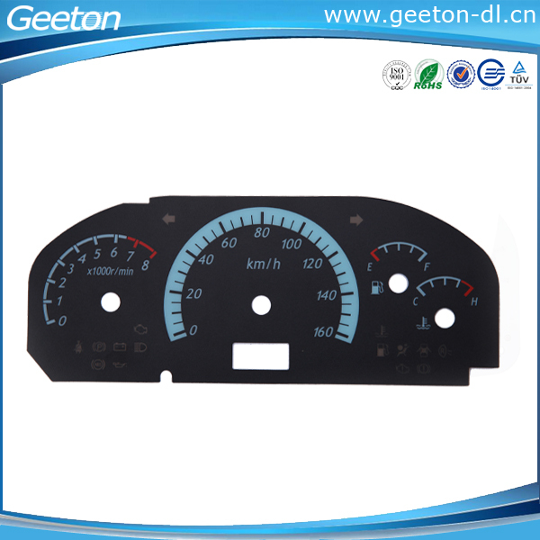 Custom Autobile Car Cluster Speedometer Faceplate Overlay