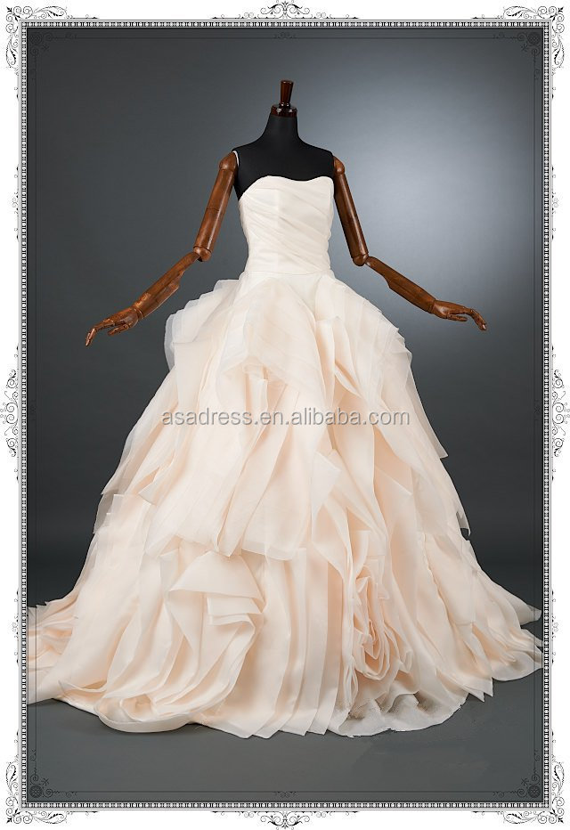 Light Pink Dress Wedding Buying Ruffled Organza Wedding Dress From ...