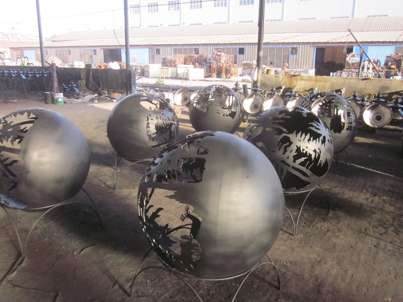 Trade Assurance Garden Metal Sphere Fire Bowl Steel Fire