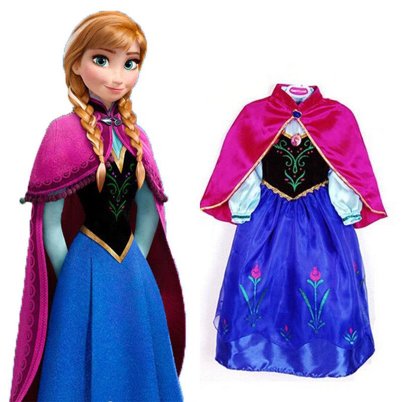 afb1cb6ba5533 Fever elsa dress girls Cosplay Dress Costume snow queen princess anna Dress  Kids party dresses fantasia