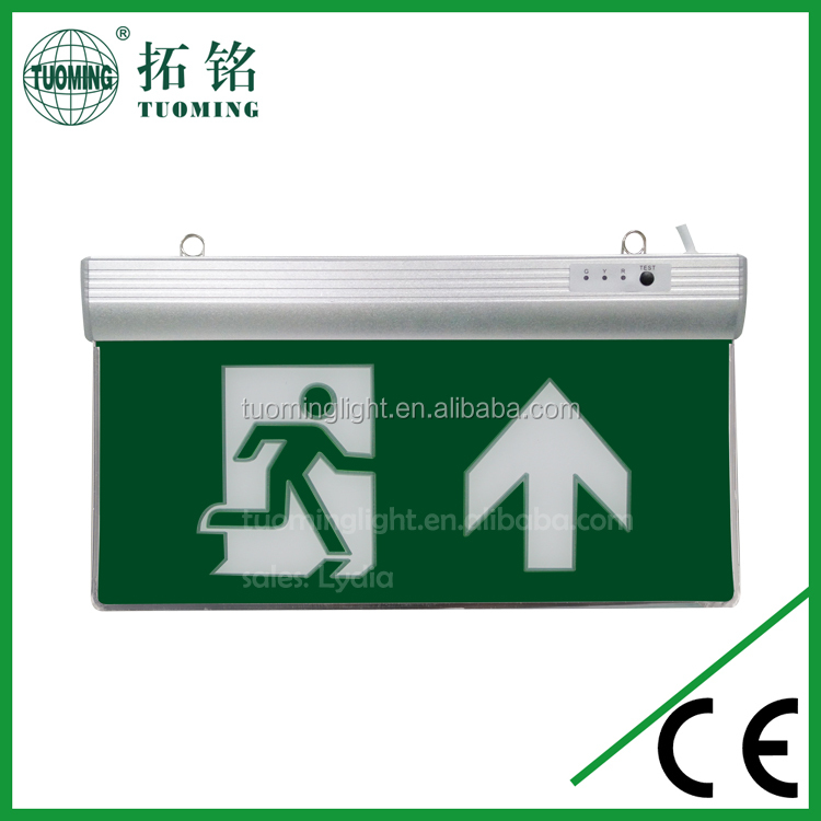 acrylic led emergency escape exit sign with 2 years warranty