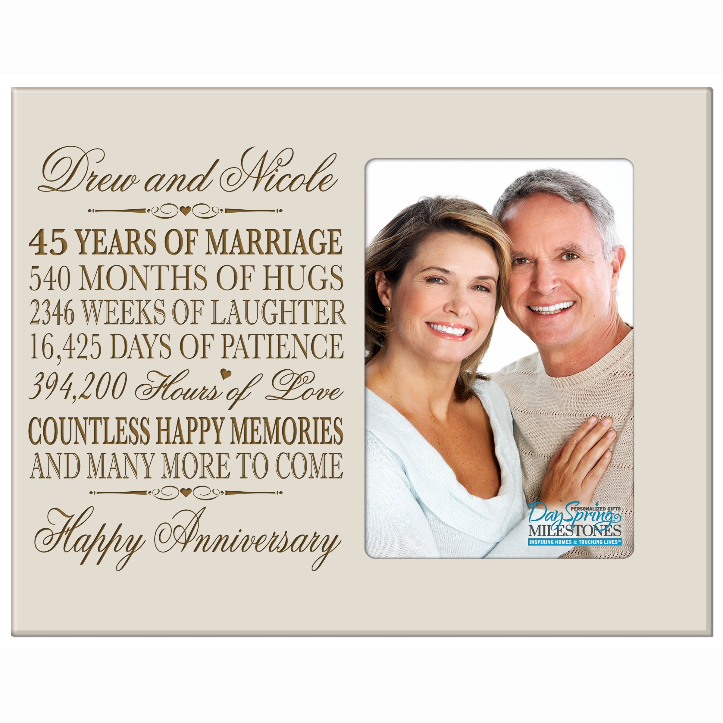 45th Wedding Anniversary Gift.Buy Personalized 45th Year Wedding Anniversary Frame Gift For Couple