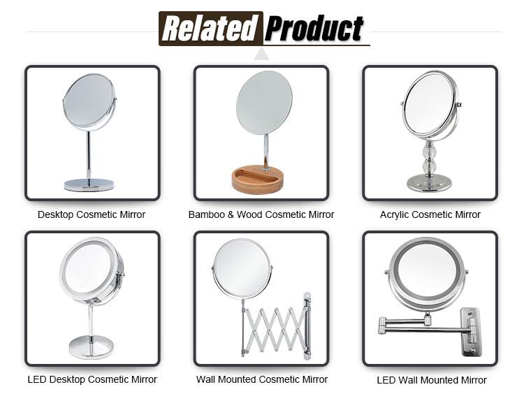Desktop Kosmetik Spiegel Vergrößerungs 1X 3X Doppelseitige Eitelkeit Make-Up Spiegel