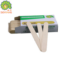 OEM disposable cosmetic wood waxing spatula