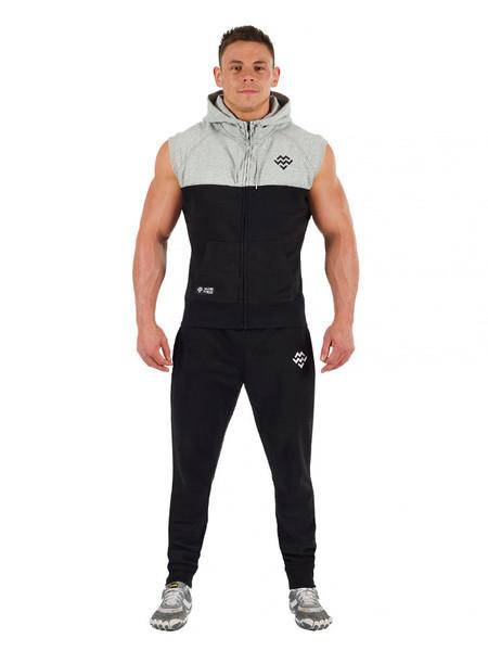 Sleeveless hoodie gym wear fashion ql for Mens sleeveless denim shirt wholesale