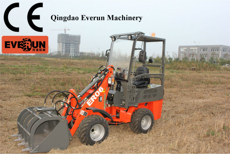 Qingdao Everun Machinery ER08 Mini Loader,ER08 Radlader,ER08 Hoflader