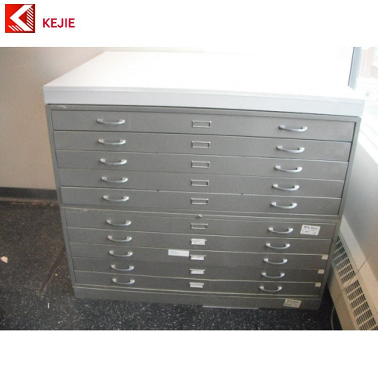 Construction Sites Use 5 Drawer Map Drawings Metal Box