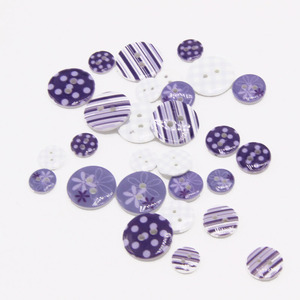 Fancy custom printed plastic resin buttons for craft