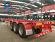 used/brand new tri axles 2*20ft/40ft container chassis/container semi trailer/dual combo trailer for sale
