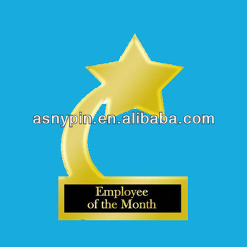 employee of the month gold star award trophy 3d gifts metal star