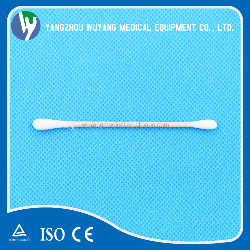 Double tipped cotton swabs sterile cotton gauze swab