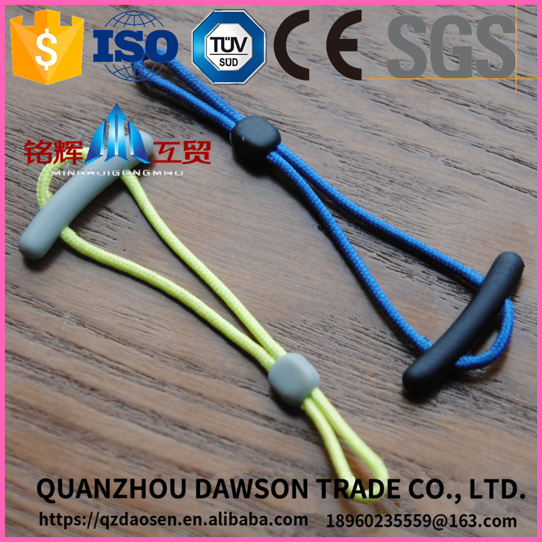 head with rope clothing puller rubber zipper cover
