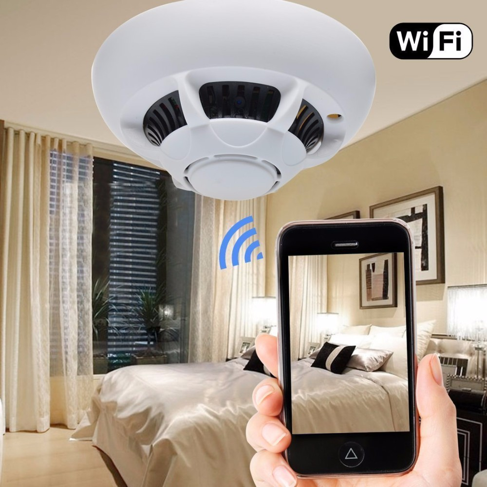 GMC-82 Spy 1080p P2P Wifi Smoke Detector hidden Camera