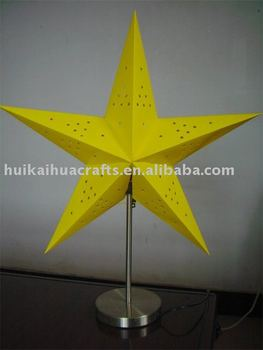 Star Shape Paper Table Lamp For Promotion Gifts