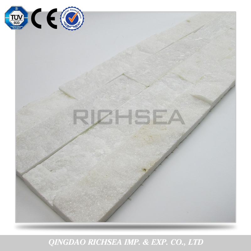 Quality Assurance White Quartzite Cultured Stone Stacked Stone Slabs