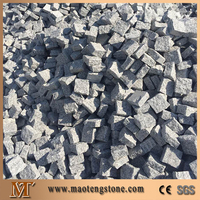 G603 Granite 10x10x3 Natural Split Cube Landscaping Stone Types