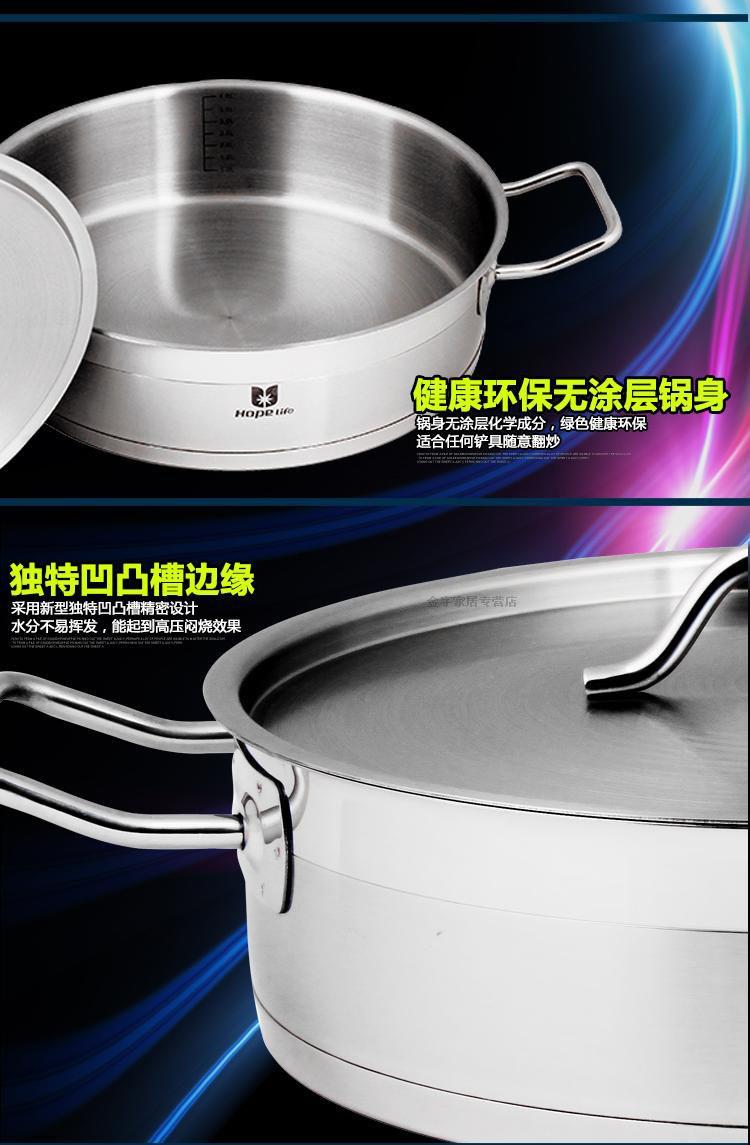 28cm Stainless Steel Non Stick Skillet Saute Pan Smoke