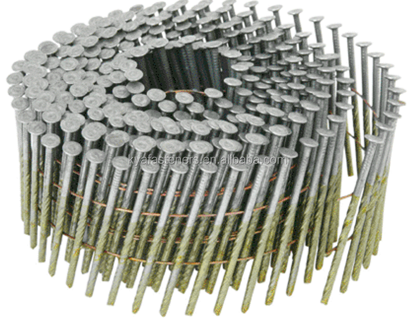15 Degree Screw Shank Coil <strong>Nails</strong> for wood pallet