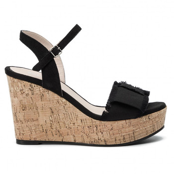 Sexy Round Toe Women sandals wedge heel High platform covering heel for girls wedge shoes sandals ladies fancy