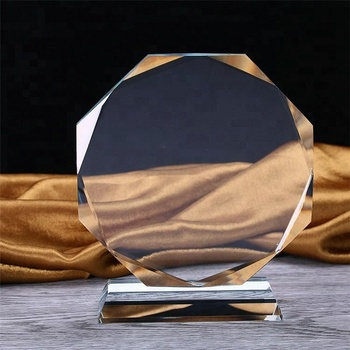 New design crystal trophy and award with custom blank acrylic award