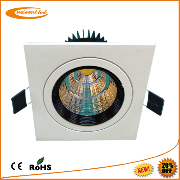 aluminium led recessed <strong>downlight</strong> 3w square household led downlighting