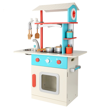 2017 Most Por Used Daycare Furniture Toy Kitchen Set High Quanlity Wooden